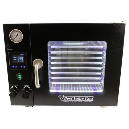 0.9CF BVV Vacuum Oven - 5 Wall Heating, Touch Screen, LED's - 8 Shelves Standard